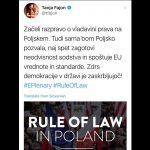 Vladavina prava - Tanja Fajon in njena nenačelnost