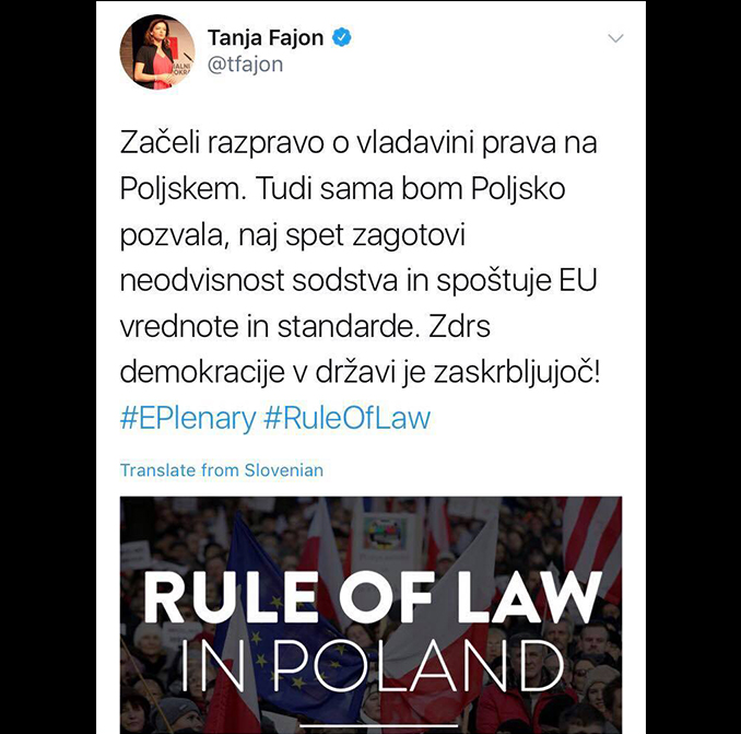 Vladavina prava – Tanja Fajon in njena nenačelnost