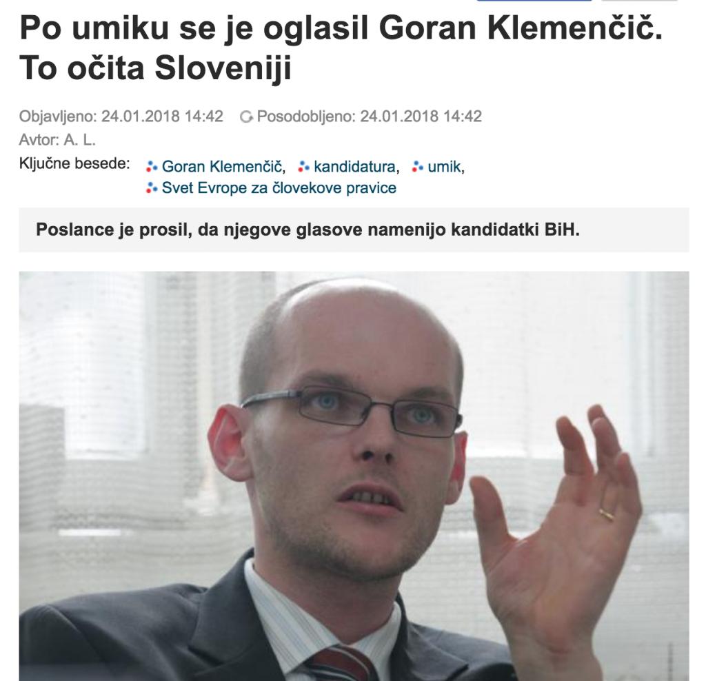 Naslovnica v Slovenskih novicah