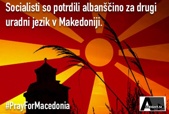 Makedonski parlament je potrdil albanščino za drugi uradni jezik
