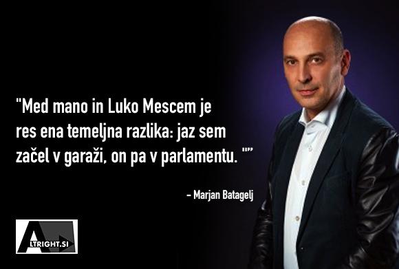 Marjan Batagelj o razliki med njim in Luko Mescom