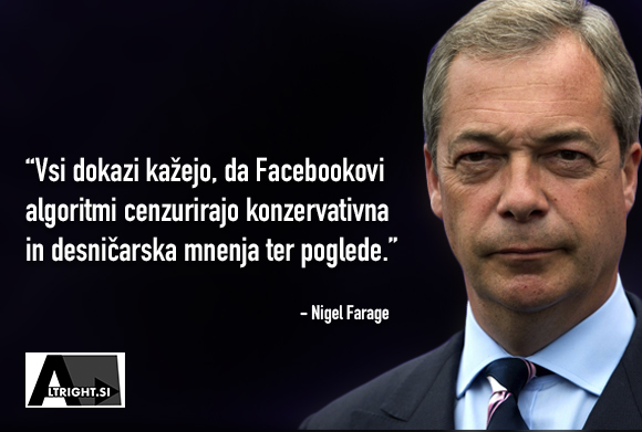 Nigel Farage se sooči z direktorjem Facebooka