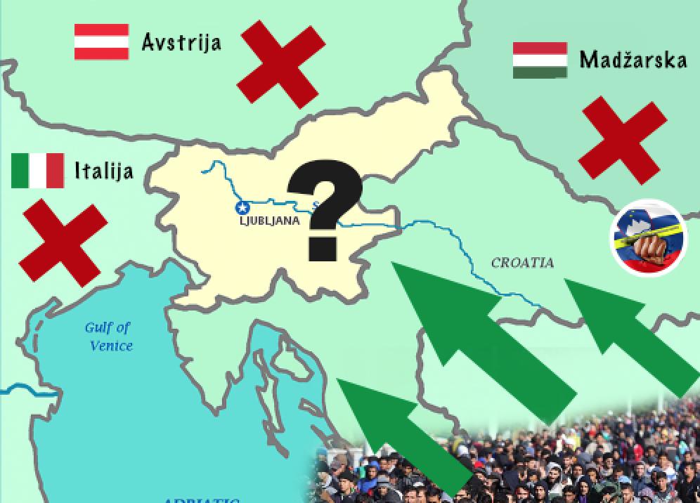 Bo Slovenija postala žep, kjer bo obstalo 50.000 migrantov?