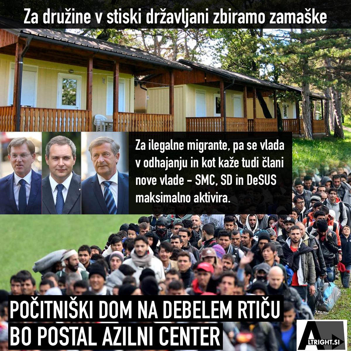 Počitniški dom na Debelem Rtiču bo postal azilni center